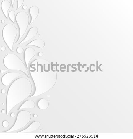 3D paper drops. raster version illustration with place for text. - stock photo