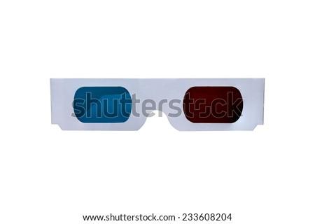 3D paper glasses. - stock photo