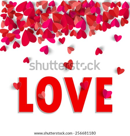Valentines day frame on red star stock vector 247254325 shutterstock 3d paper heart and love text isolated in white background greeting card illustration format altavistaventures Image collections