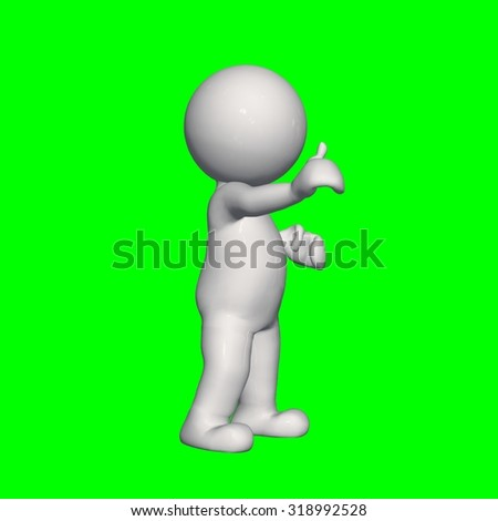3D People - good 3 - green screen
