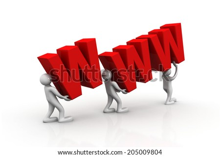 3d people lifting www	 - stock photo