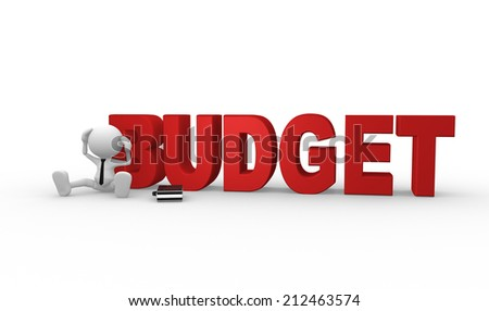 3d people - man, person and word Budget - stock photo
