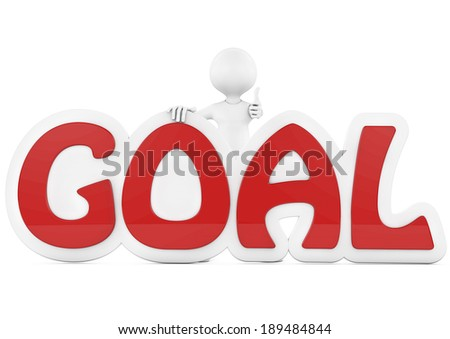 "3d people - man, person behind word ""goal"" - stock photo"