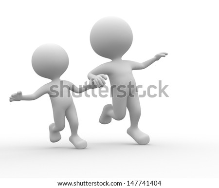 3d people - man, person happy - stock photo