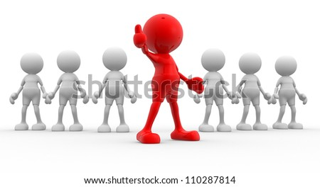 """3d people - man, person showing """"OK"""" sign - stock photo"""