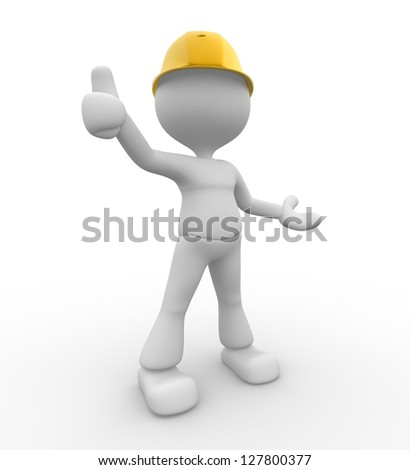 "3d people - man, person showing ""OK"" sign."