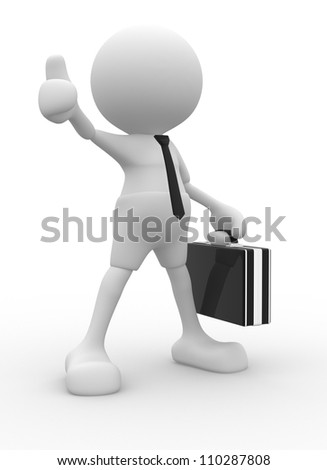 "3d people - man, person showing ""OK"" sign. Businessman - stock photo"