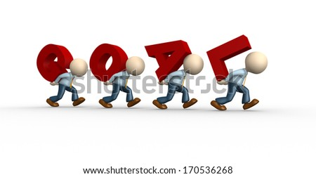 """3d people - men, person and word """"goal"""". The concept of success  - stock photo"""