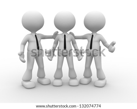 3d people - men, person together, friends. He's the man - stock photo