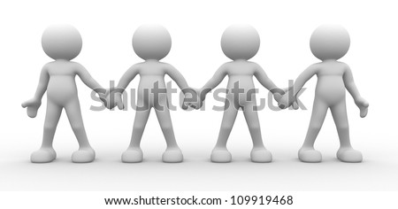 3d people - men, person together - team - stock photo
