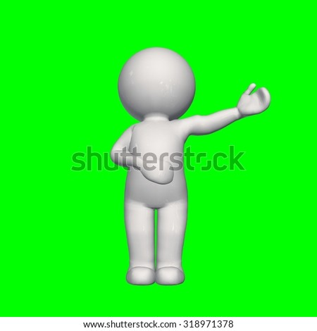 3D People - speech 2 - green screen