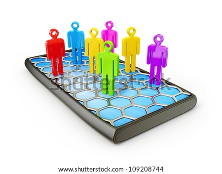 3d peoples isolated on a white background - stock photo