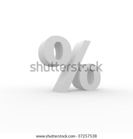 3D Percent - stock photo