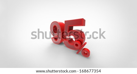 3D percent sign isolated on white background.