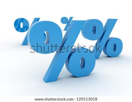 3D percent signs - stock photo