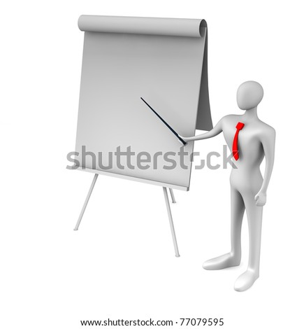 3d person doing a presentation