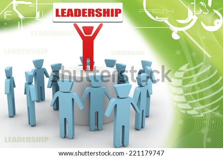 3d person icon leadership and team