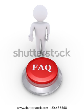 3d person is showing the FAQ button