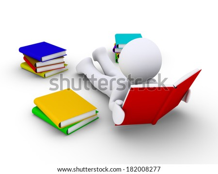3d person lying on the ground is reading a book