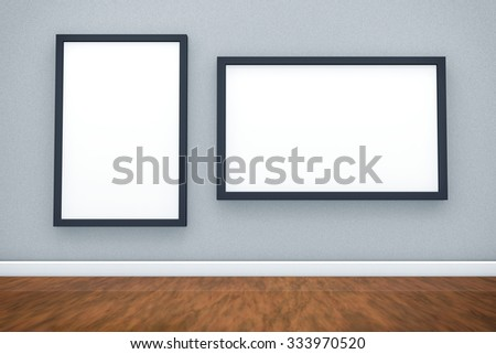 3D Photography Museum Blank Space Background.