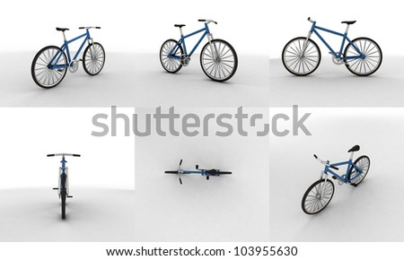 3d pictogram of a bicycle - close up - stock photo