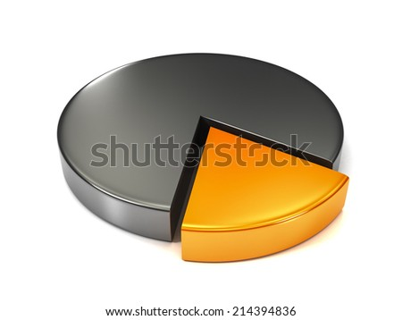 3d Pie Silver Chart One Piece Stock Illustration 214394836