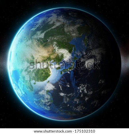 3D Planet Earth. Elements of this image furnished by NASA. Other orientations available.
