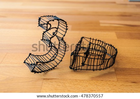 3D plastic letters with 3d pen