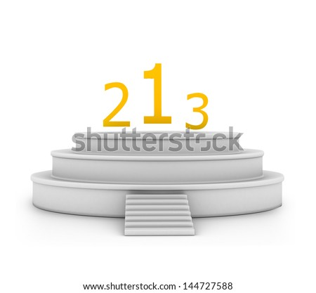 3d podium - stock photo