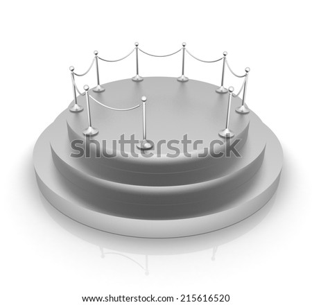 3D podium on white background - stock photo