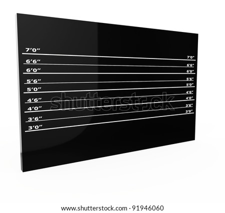 3d police lineup blank wall on white background