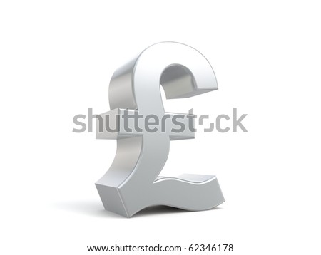 3d pound sign from my metal collection - stock photo