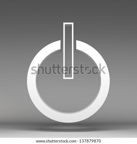 3d power icon - stock photo