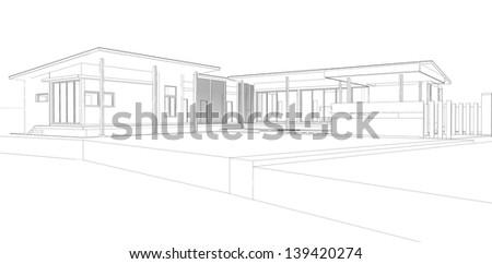 3D Preliminary concept 03 - stock photo