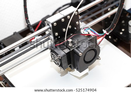 3d printer mechanism working yelement design of the device during the processes