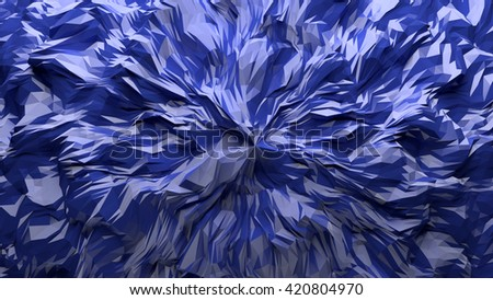 3D processed colorful abstract fractal geometrical background - stock photo