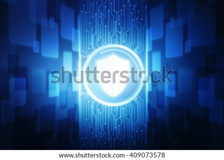 2d protection shield - stock photo