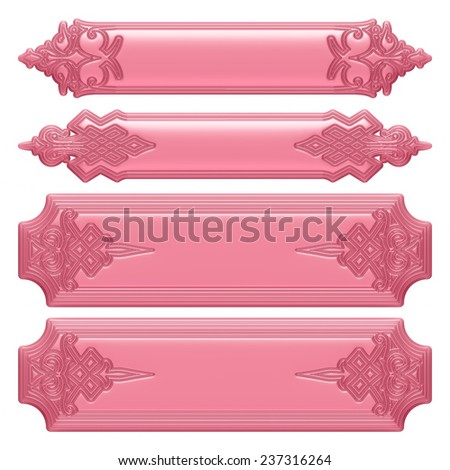 3d purple pink ornament on a white background