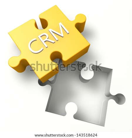 3d Puzzle concept: CRM - Customer Relationship Management - stock photo