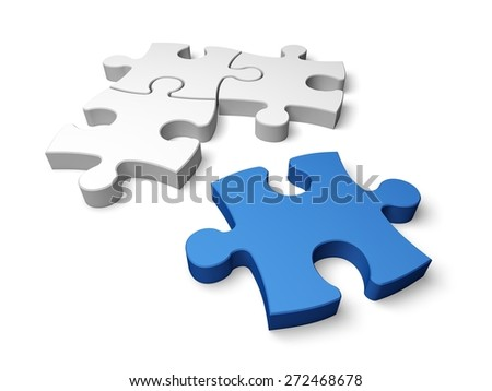 3D. Puzzle, Partnership, Jigsaw Piece.