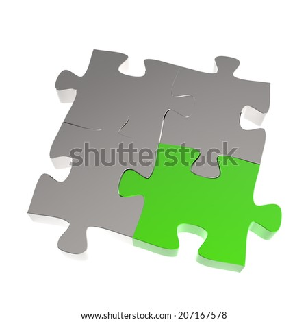 3d puzzles partnership as concept