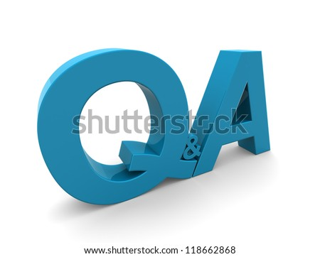 3D Question Answer - stock photo