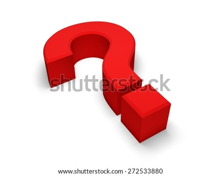 3D. Question Mark, Problems, Solution.