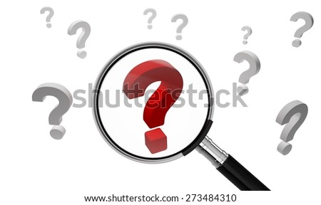3D. Question Mark, Searching, Comparison. - stock photo