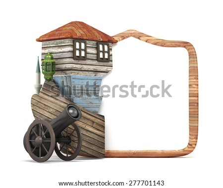 3d ramadan concept-frame board ,ramadan gun,muslim neighborhood