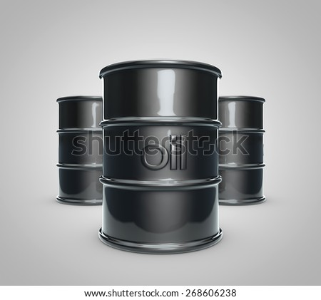 3D realistic drawing of a barrel of oil - stock photo