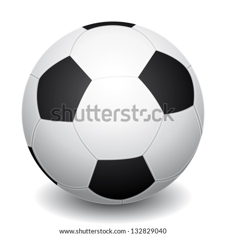 3D Realistic soccer ball icon. - stock photo