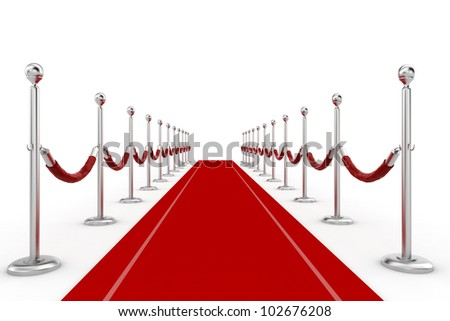 3d red carpet illustration - stock photo