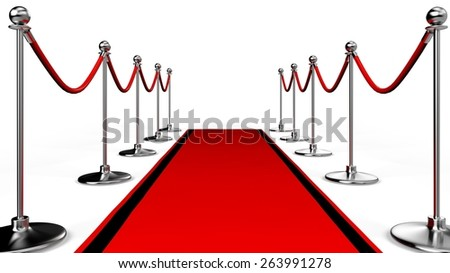 3D. Red Carpet, Movie, Hollywood - California. - stock photo