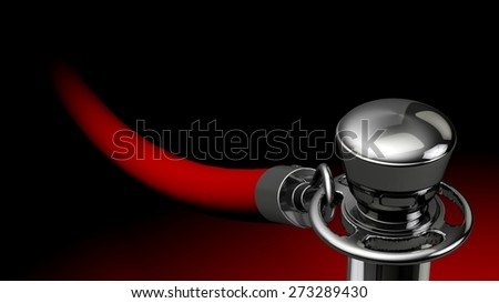 3D. Red Carpet, Success, Party. - stock photo